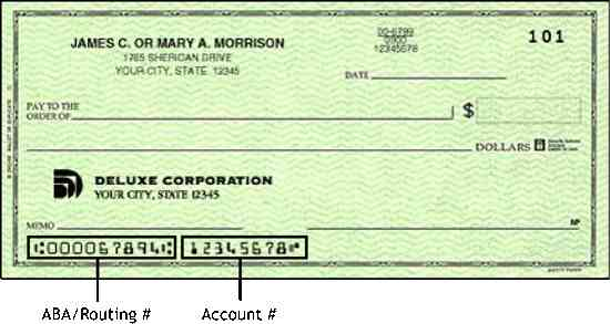 Find your routing number