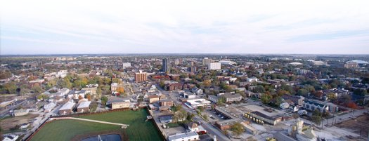 Champaign-Urbana skyline from Volo's tower